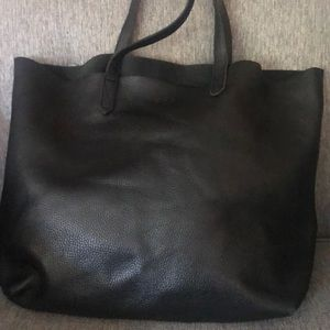 Cuyana pebbled leather tote